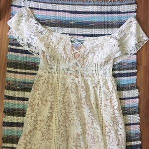 White/Cream Lace Tobi Dress